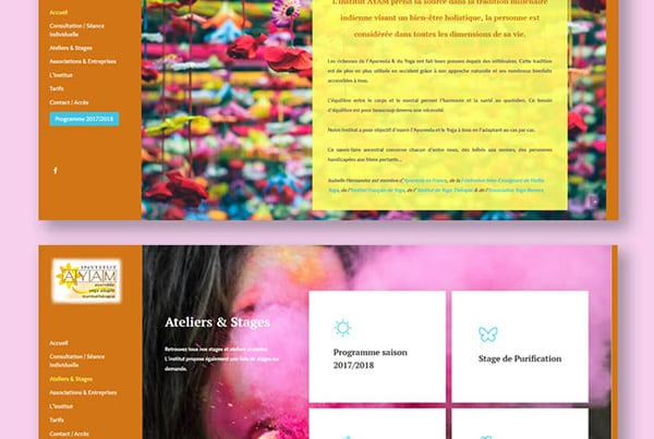Ayam Institut – Redesign of website, responsive and local SEO