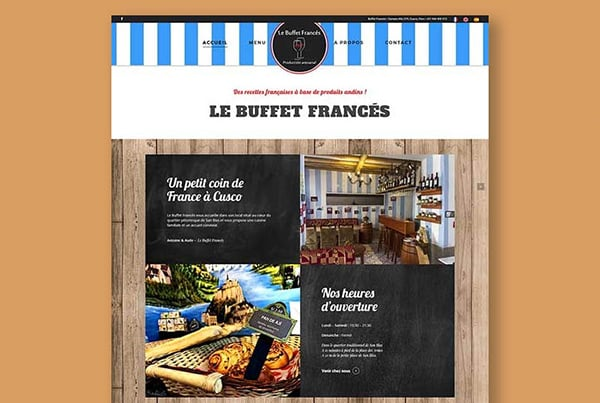 Buffet Francés Restaurant – Creation of a multilingual website and SEO