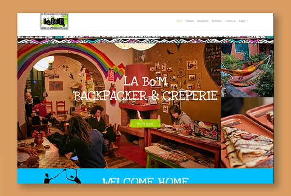 Hostel La Bo'M – Two activities and multi-lingual website for La Bo'M
