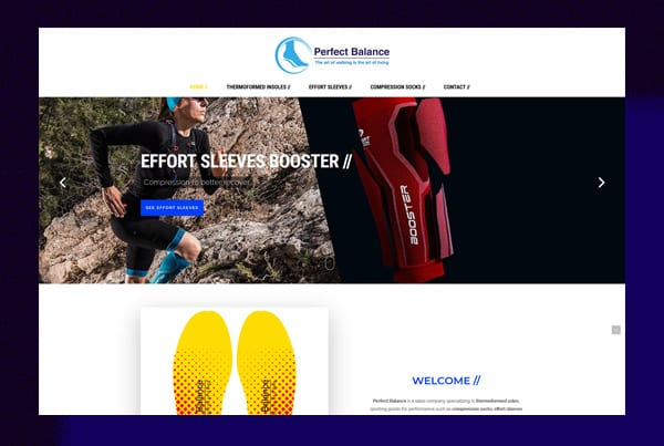 Sport accessories – Perfect Balance website