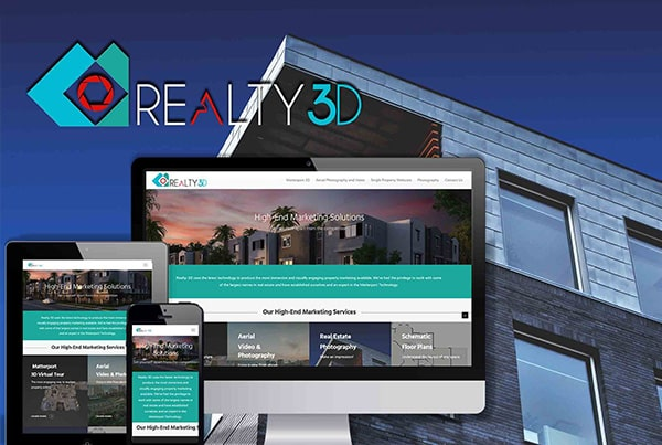 Realty 3d logo and Website creation, a real estate 3D imaging company