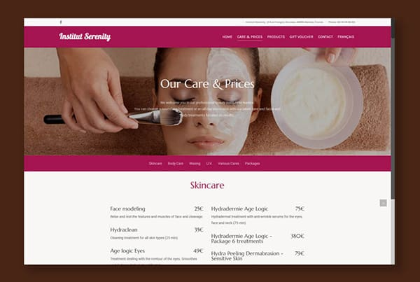 The Serenity beauty institute gets a brand new look with a brand new Responsive and multilingual website.