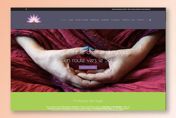 Develop your spirituality and discover the redesign of the YOGA VERS SOI website