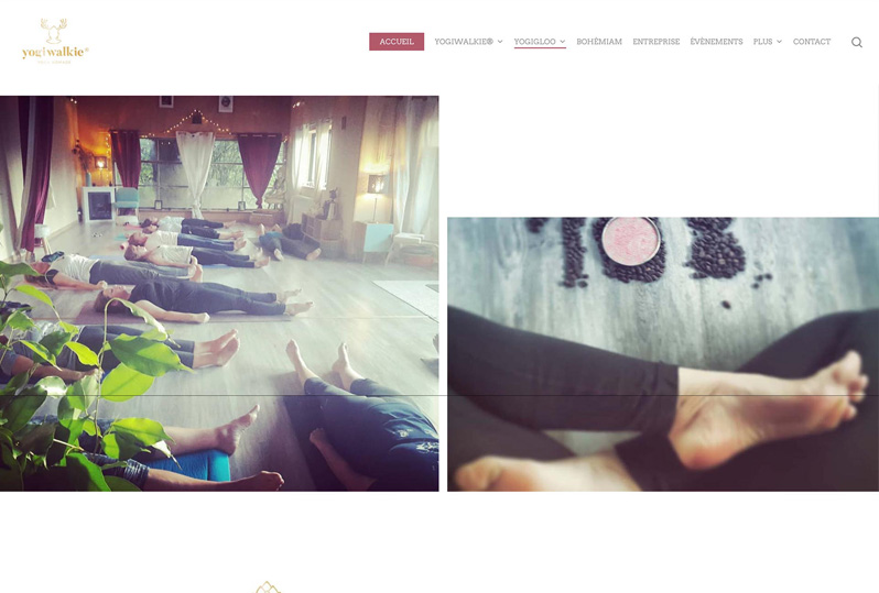 Webdesign YogiWalkie – Yoga