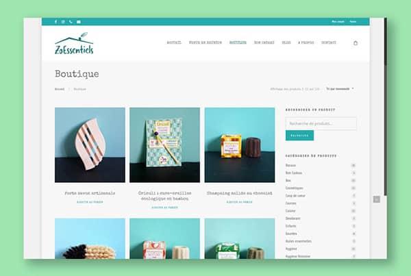 Creation E-commerce website Zero Waste