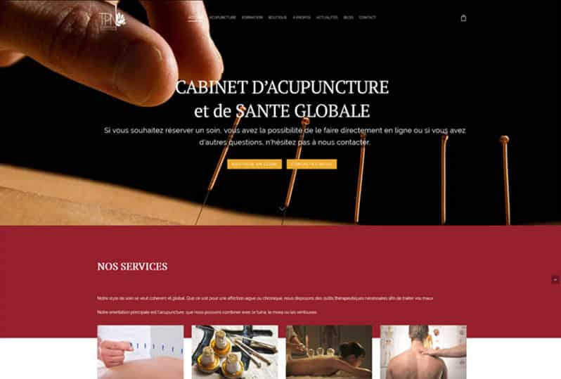 Redesign of Nguyen Acupuncture responsive website, graphic design and local SEO.