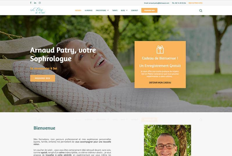 Website redesign Sophrology and Hypnotherapy