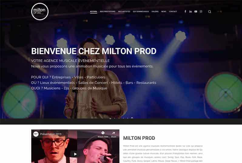 Redesign of responsive Milton Prod website and local SEO.