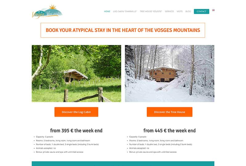 Multilingual website redesign – Vosges Bleu Vert